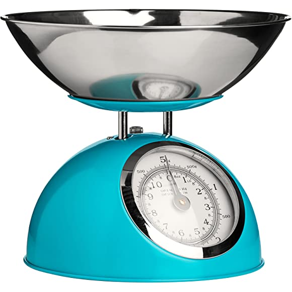 Premier Housewares Turquoise Blue Kitchen Weighing Scales