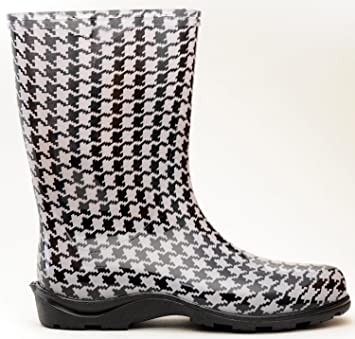 Amazon.com: Sloggers 5005HT07 Size 7 Houndstooth Women's ...