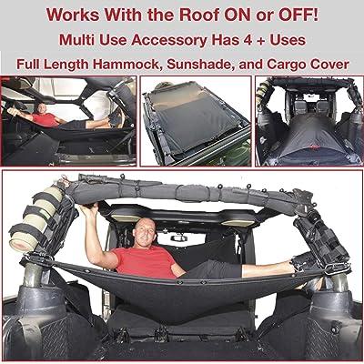 JKloud Jeep Wrangler Hammock for JKU 4 Door Works with Roof ON or Off: Automotive