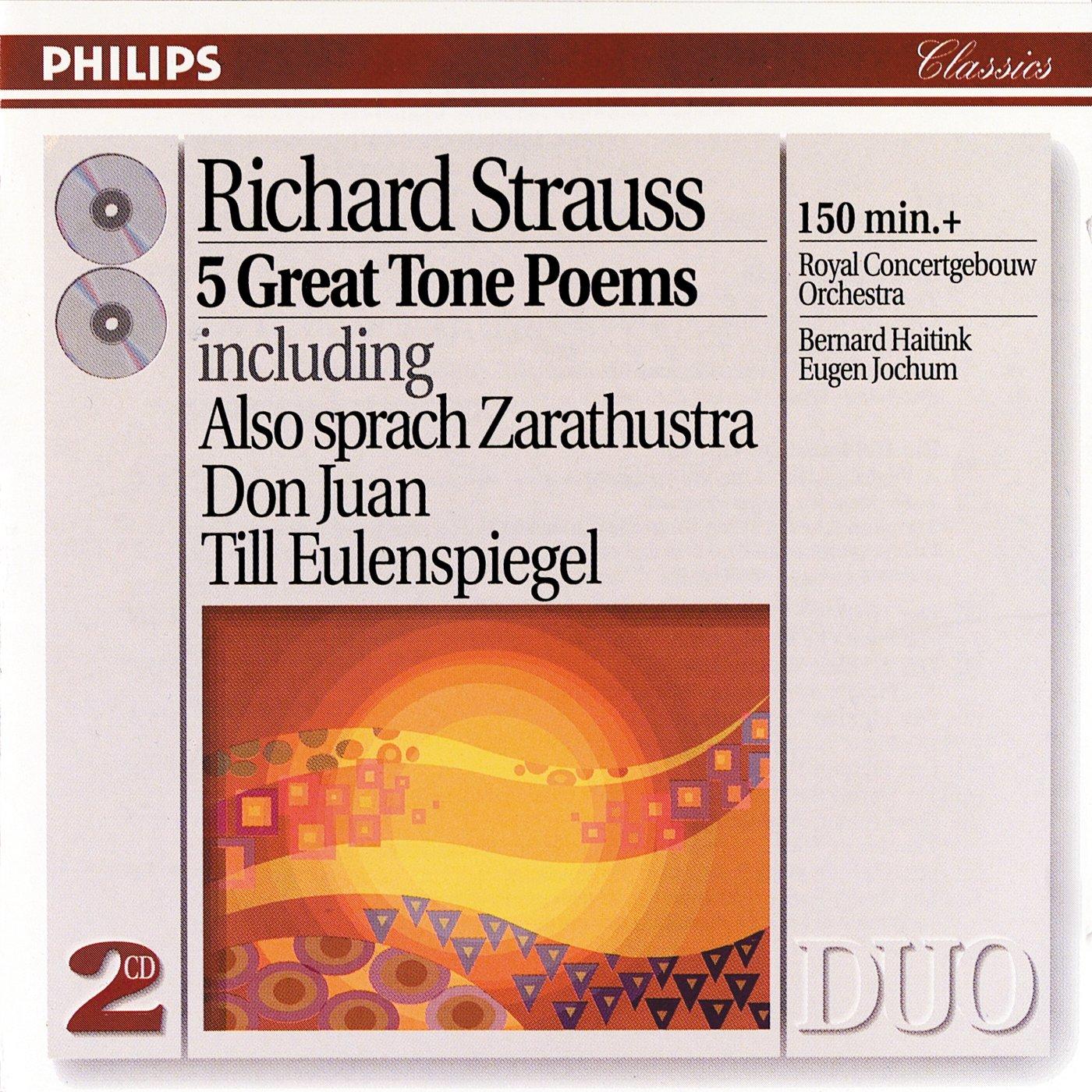 Richard Strauss, Haitink, Jochum, Royal Concertgebouw Orch. - Strauss: 5  Great Tone Poems - Amazon.com Music