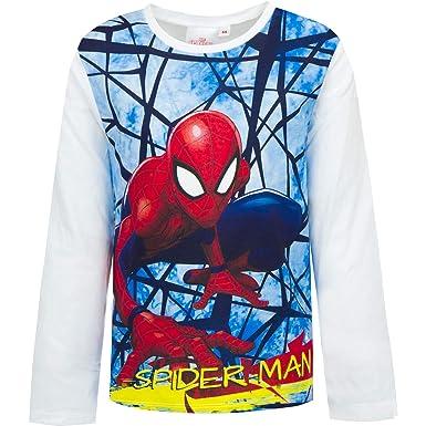 Marvel Boys Spiderman Long Sleeved Top
