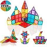 Magna Shapes 60 Piece Super Magnetic Tile Building Set - Construction Toy For Boys or Girls