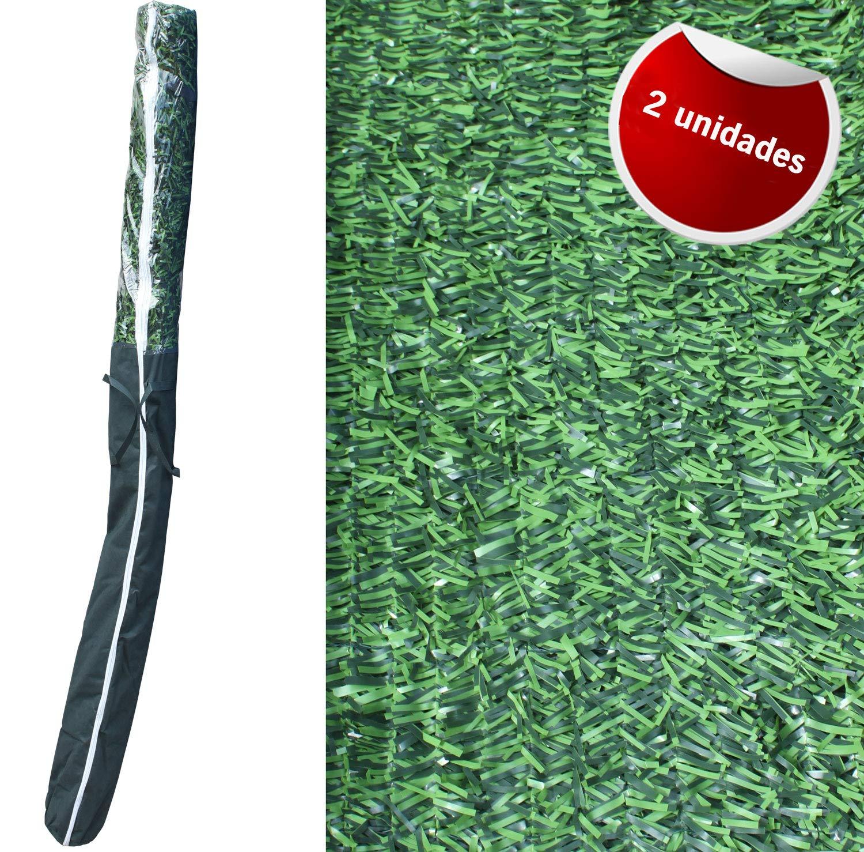 Adosa - Kit de 2 setos Artificiales Decorativos tupido ignífugo de 3x2m