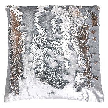 Favorite Amazon.com: Mario Lorenz Silver Sequin Pillow: Home & Kitchen AD48
