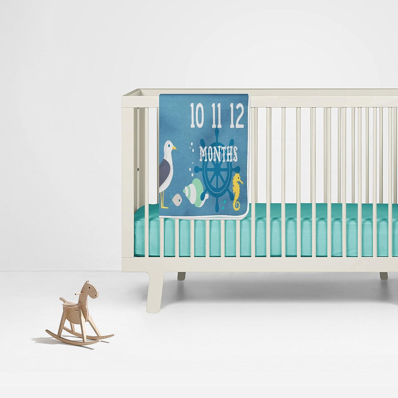 Amazon.com: Náutico Milestone – Manta azul Baby Boy manta ...