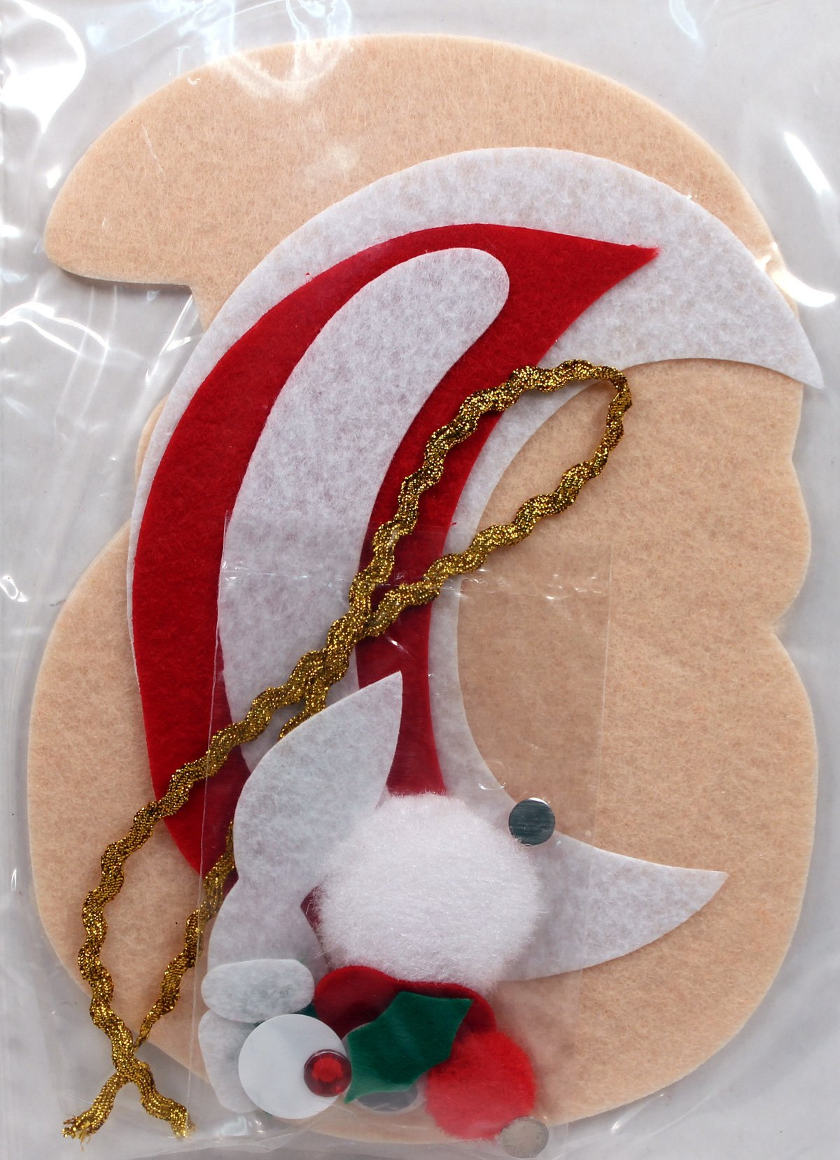 Make Your Own Felt Christmas Ornament Kit, Santa, Wholesale Pack of 12 Kits