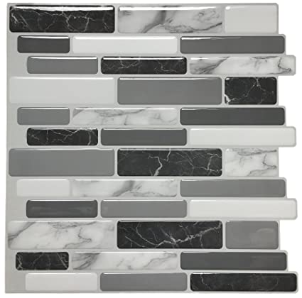 amazon com art3d peel and stick wall tile for kitchen backsplash rh amazon com Lowe's Peel and Stick Backsplash Peel and Stick Tiles for Kitchen Backsplash
