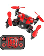 RC Mini Drone for Kids and Beginners Portable Pocket Quadcopter with Altitude Hold,One-Key Take-Off/Landing,Headless Mode and 3D Flips,Fun Boys Girls