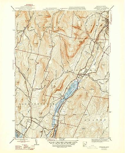 Topographic Map Massachusetts.Amazon Com Yellowmaps Cheshire Ma Topo Map 1 31680 Scale 7 5 X