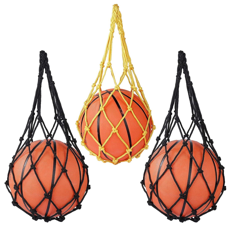 Fu/ßball 3er-Pack Fu/ßball Volleyball Tragetasche Outdoor Reiten MaoXinTek Ballnetztasche f/ür Basketball