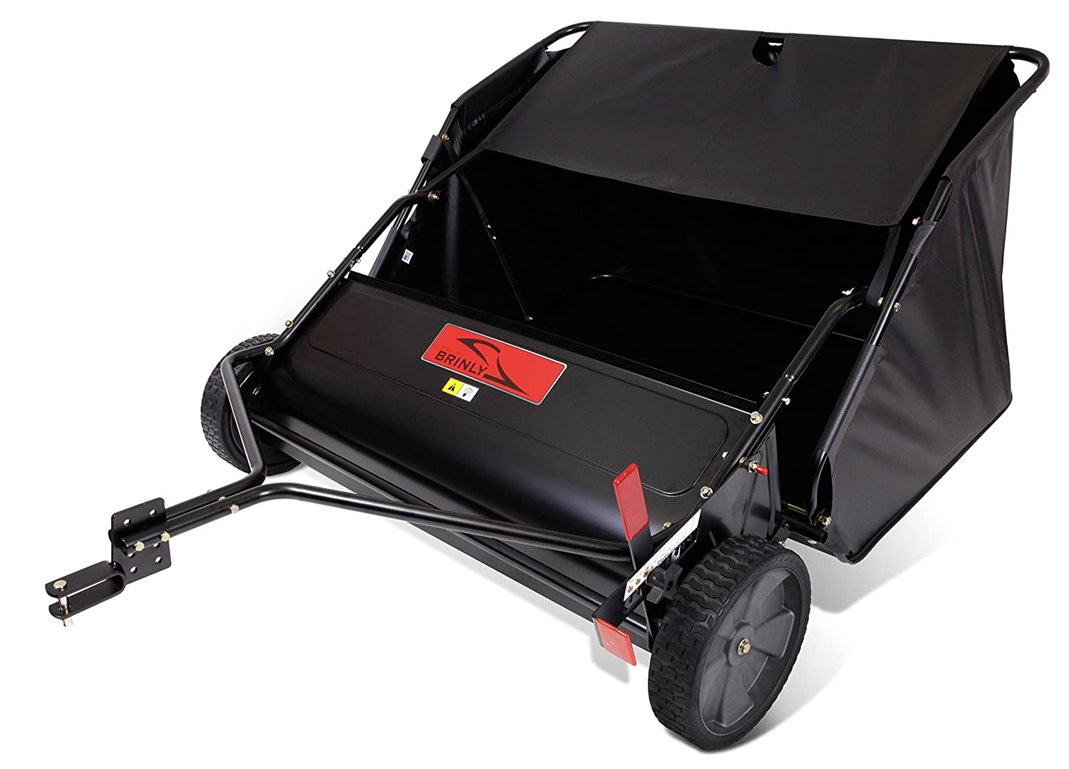 best lawn sweeper - Brinly STS-427LXH 20 Cubic Feet Tow Behind Lawn Sweeper, 42-Inch