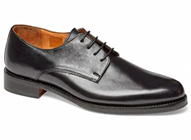Anthony Veer Mens Truman Derby Leather Shoe In Goodyear Welted Construction  (7 D, Black