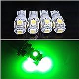 5連 4個セット 12/24V選択 LED T10ウェッジ 白 赤 青 黄 緑 桃 燈 3チップ5050 SMDスモール ポジション