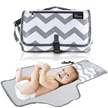 Foldable Pad with Stroller Strap /& Pocket for Diapers /& Wipes Baby Portable Changing Pad Perfect Baby Shower Gift Waterproof Changing Organizer Bag for Toddlers Infants /& Newborns