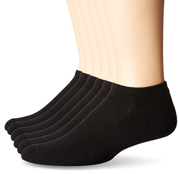 99145a3ae7379 No Nonsense Men's Cushioned No Show Socks (6 Pack) Made in USA, Black