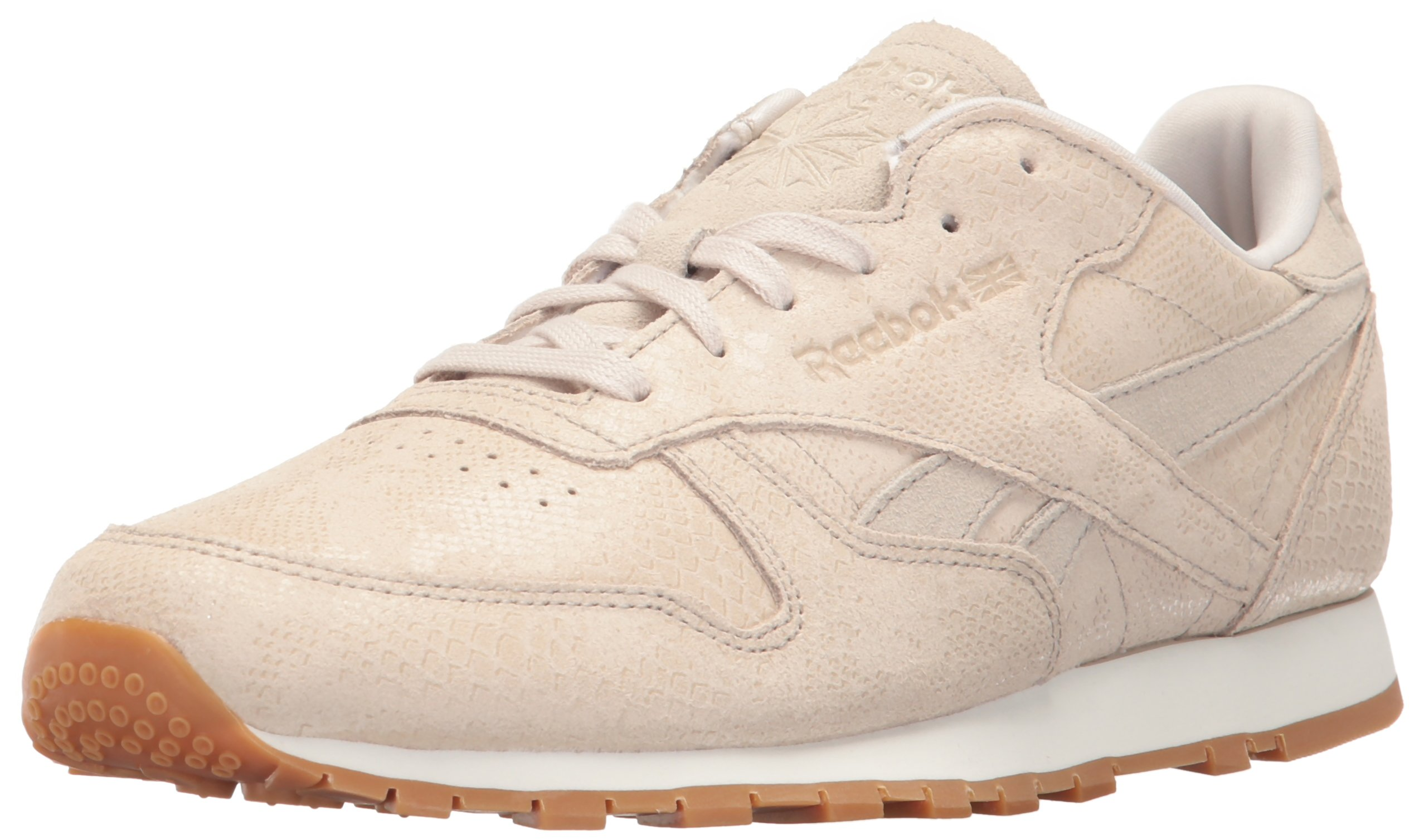 Reebok Women/'s Classic Leather Pink Exotic Print Fashion Sneakers