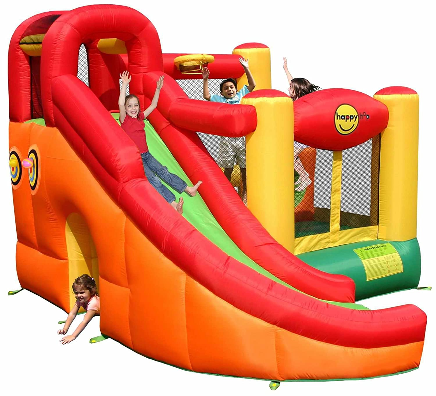 Castillo inflable 10 en 1 - 9106 Happy Hop: Amazon.es: Juguetes y ...