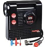 PowRyte Basic Digital Tire Inflator - 12-Volt Portable Auto Air Compressor with Work Light
