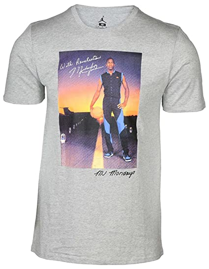 ce0a416239e Image Unavailable. Image not available for. Color: Jordan MJ MONDAY'S TEE  mens workout-and-training-shirts 801603-063_XL -
