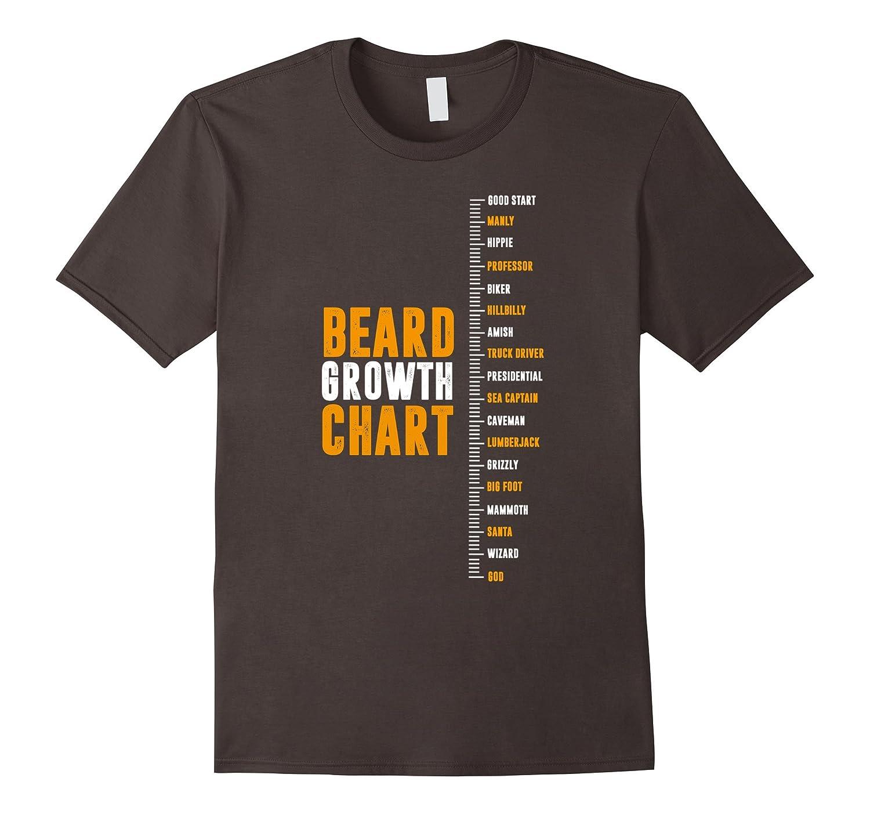 Zany Brainy: Epic Beard Growth Chart T-Shirt - Funny Tee-TH