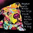 Dean Russo Dog Soul Quote Modern Animal Decorative Art Poster Print, Unframed 12x12