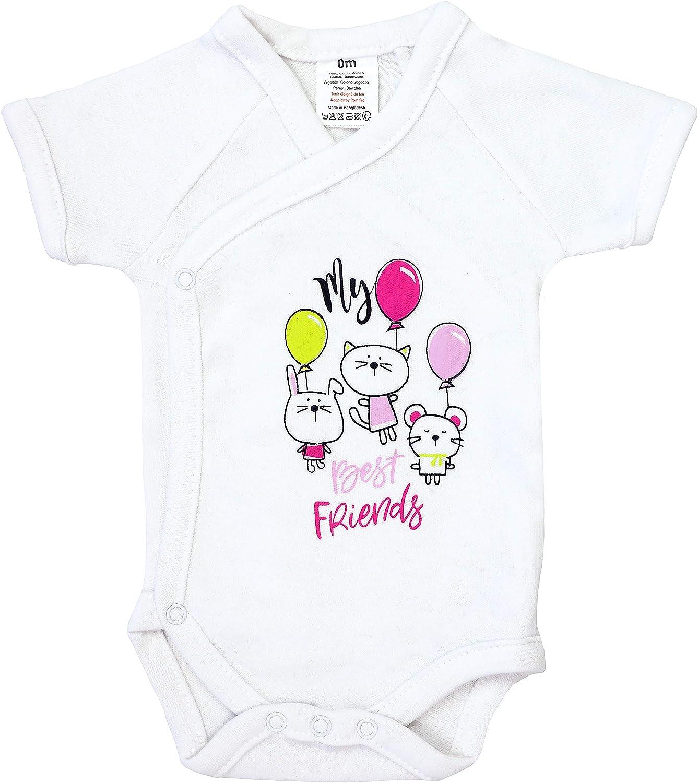 5er Pack Baby M/ädchen Bodys Wickelbodys Kurzarm Baumwolle