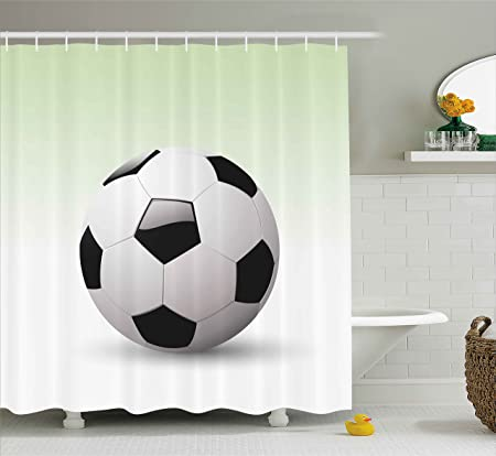 sports shower curtain by ambesonne vector image of football soccer