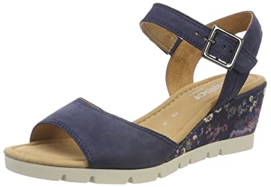 Womens Suede Uppers with Buckle Fastening Ankle Strap Sandals Gabor 0qlkbYc