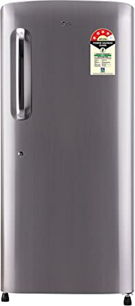 LG 215 L 4 Star Direct Cool Single Door Refrigerator(GL-B221APZX.DPZZEBN, Shiny Steel,Smart Inverter Compressor)
