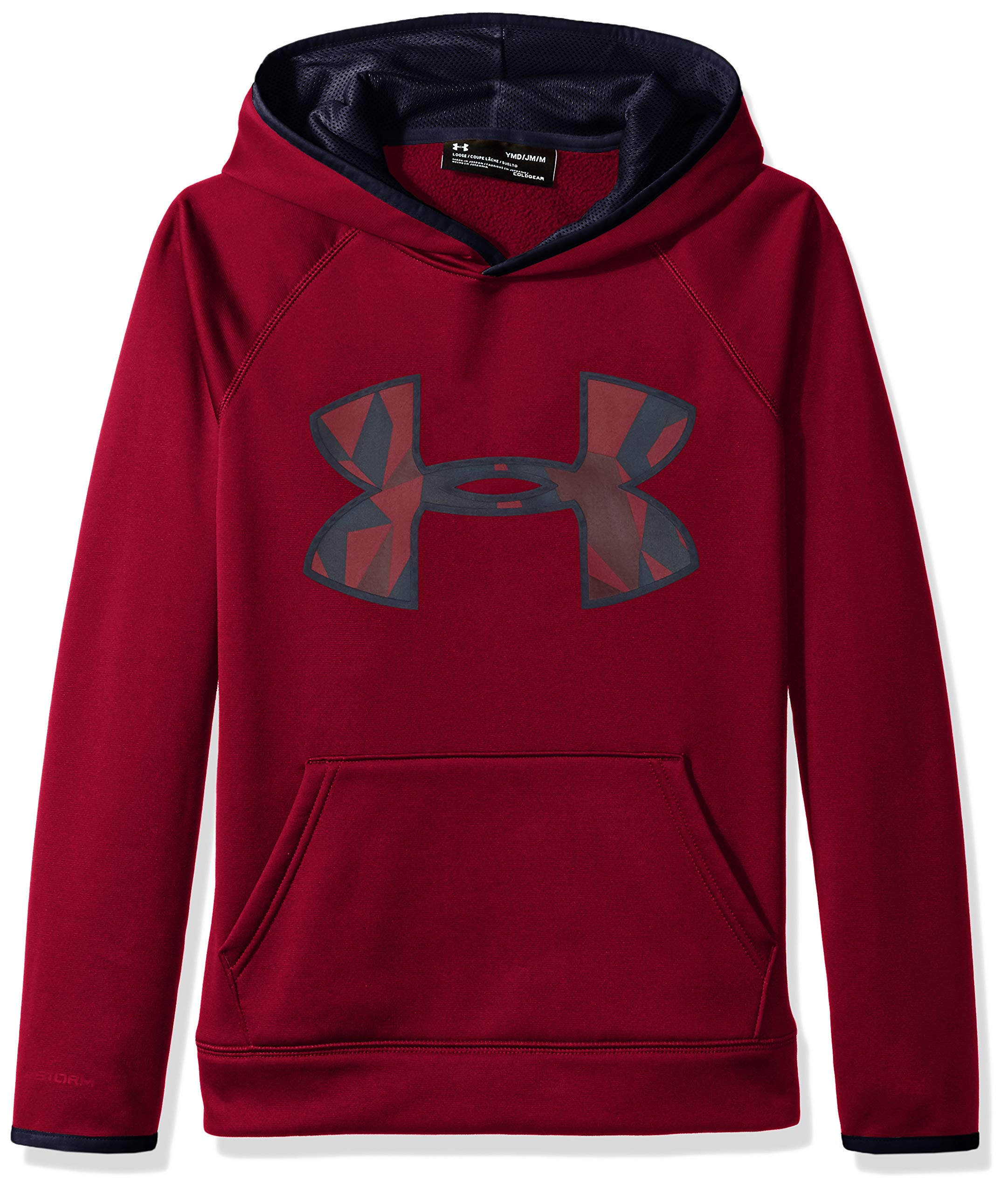 Under Armour Boys' Armour Fleece Big Logo Hoodie,Black Currant (923)/Black Currant, Youth X-Small