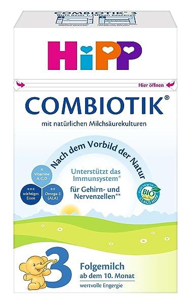 Hipp Orgánico Combiotik 3 leche de continuación - a partir de 10 meses, 4 unidades