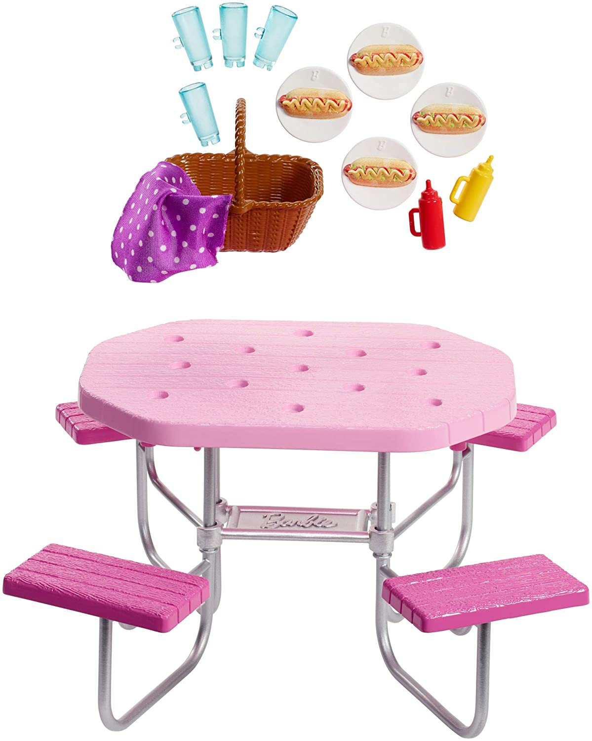 Barbie Picnic Table Playset
