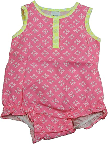 d8cf3abaefe0 Image Unavailable. Image not available for. Color  Carter s Baby Girls Size  6 Months Sleeveless Romper ...