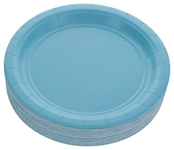 Amcrate Light Blue Disposable Party Paper Dessert Plates 7\u0026quot; - Ideal for Weddings Party\u0027s  sc 1 st  Amazon.com & Amazon.com: Amcrate Light Blue Disposable Party Paper Dessert ...