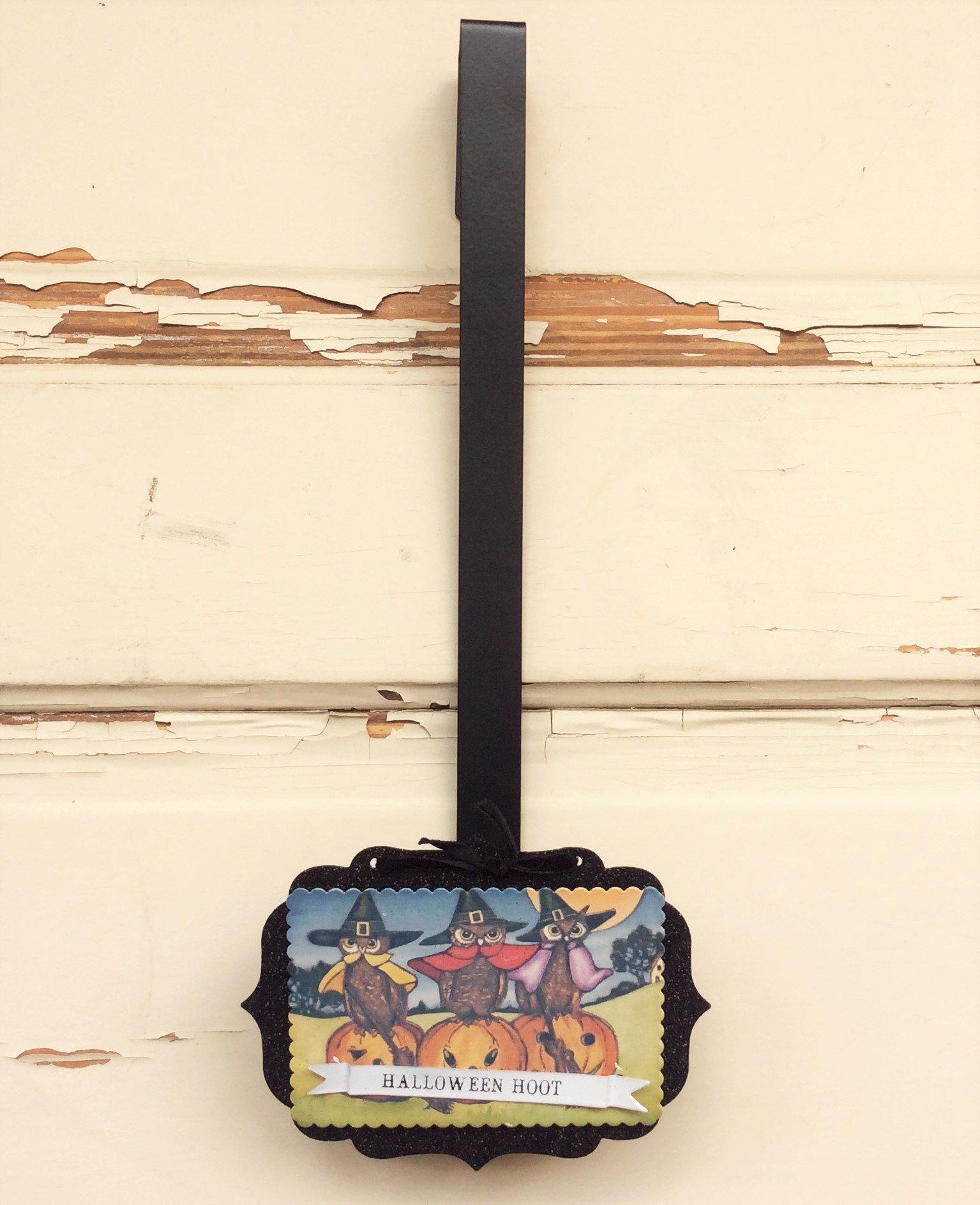 AG Designs Halloween Decor - Wreath Door Hanger Hook Vintage Hoot #16OCT13