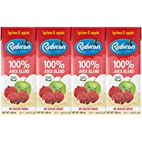 RUBICON LYCHEE & APPLE NO ADDED SUGAR 200ML PACK OF 4