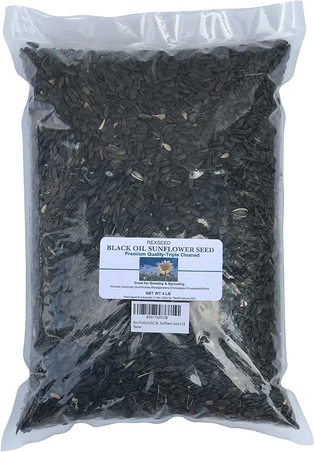 Rex Products,INC Black Oil Sunflower Seed 4 LB