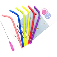 Reusable Straws 6 Pack Food Grade Silicone Drinking Straws Perfect As Smoothie Straws Party Straws Kids Straws
