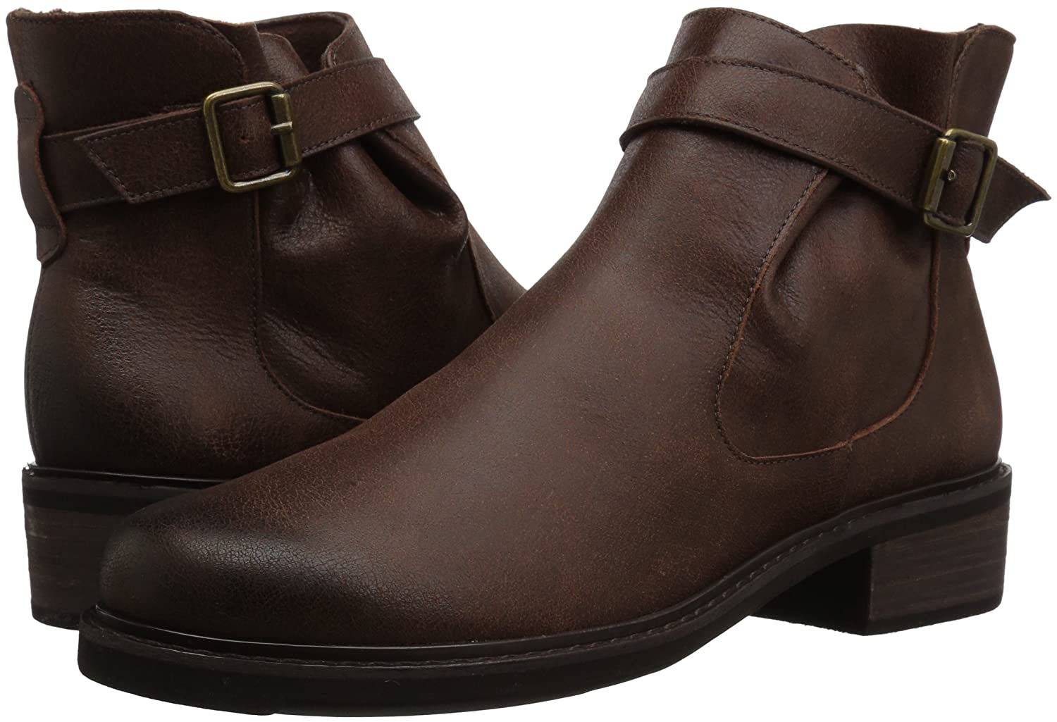 Walking Cradles Women's Devin Ankle Boot B01MZHBE45 7 W US|Brown Saddle