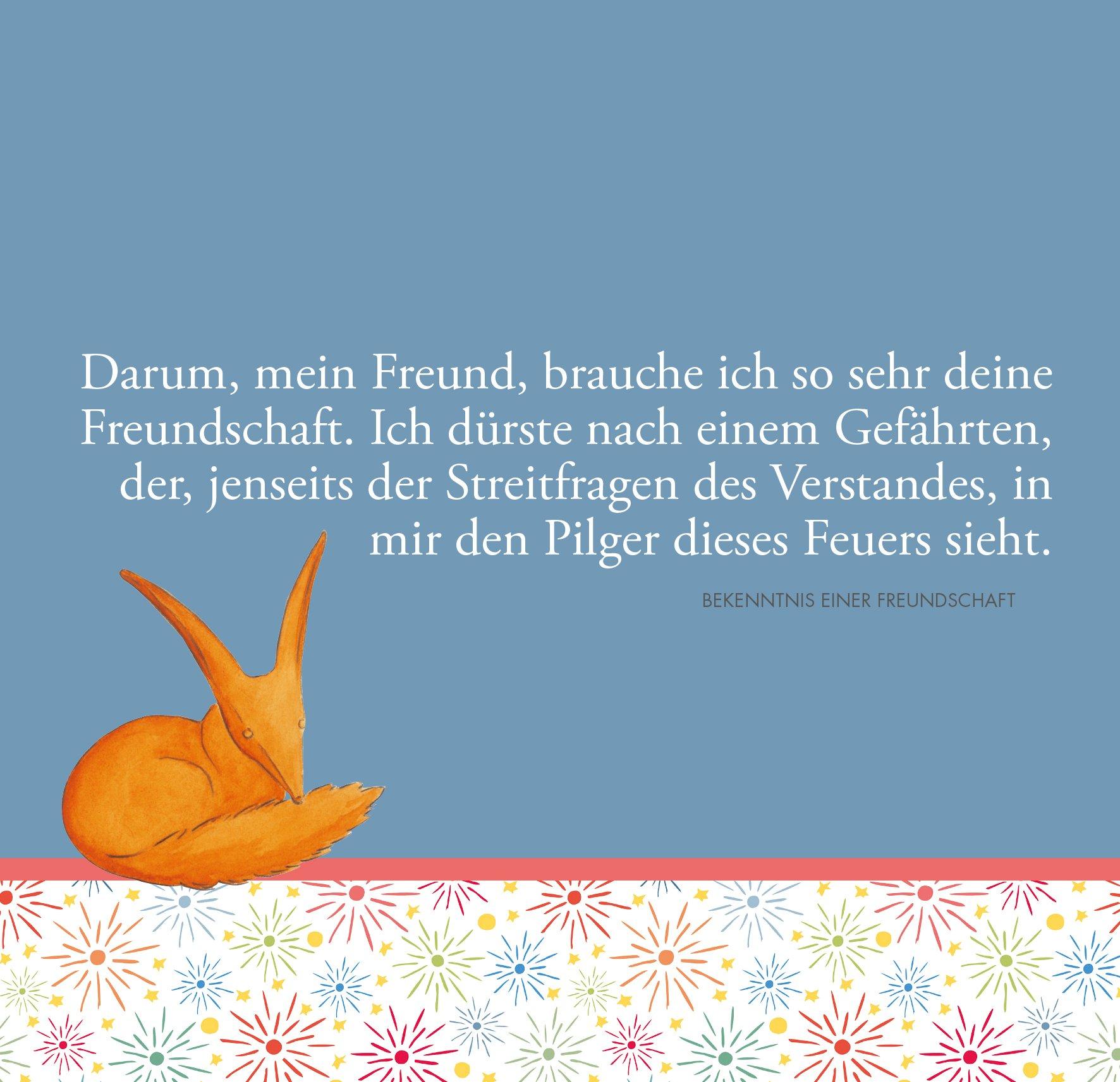 Kleine Prinz Zitate Liebe Spruche Der Wahre Freude Ist Freude Am Andern Gedanken Uber Freundschaft Von