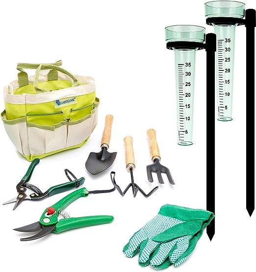 Lantelme 7949 - Juego de 9 Herramientas para el jardín, Herramientas para el Cuidado de Herramientas de jardín: Amazon.es: Jardín