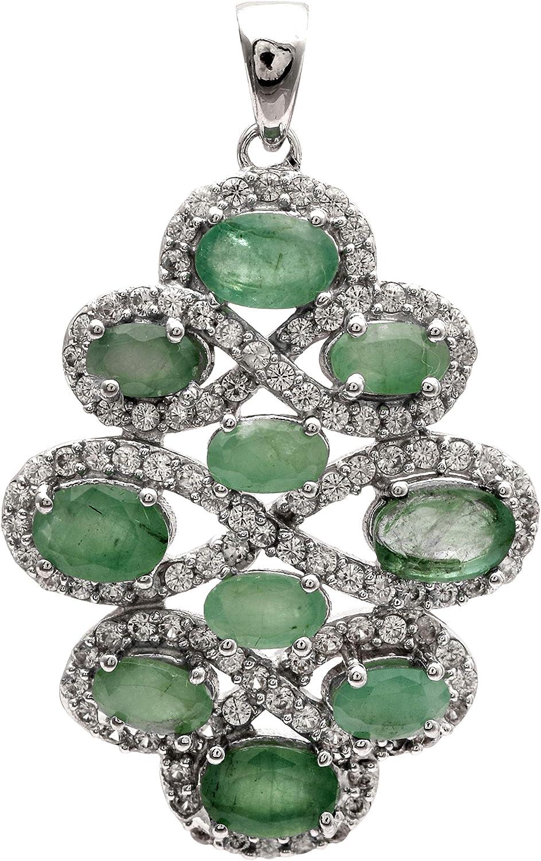 Shine Jewel 925 Libra esterlina Plata Natural Piedra Preciosa Pera Forma Lágrima soltar Racimo  Dama de Honor Colgante