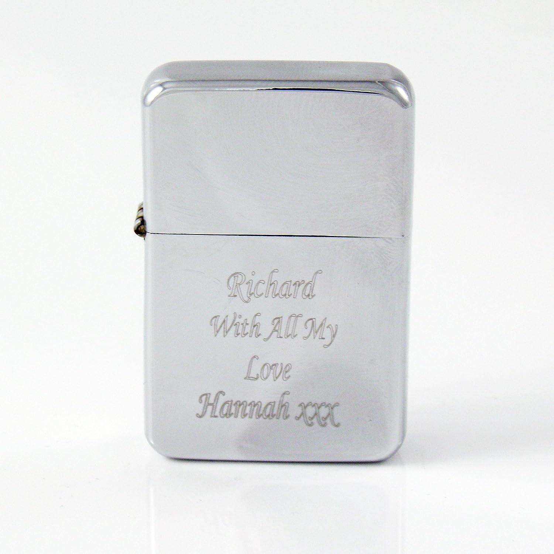 Mechero de gasolina personalizable con grabado gratuito, para padrinos, regalos de boda o navidades