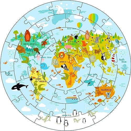 iPlay, iLearn Kids Wooden Solar System Floor Puzzles