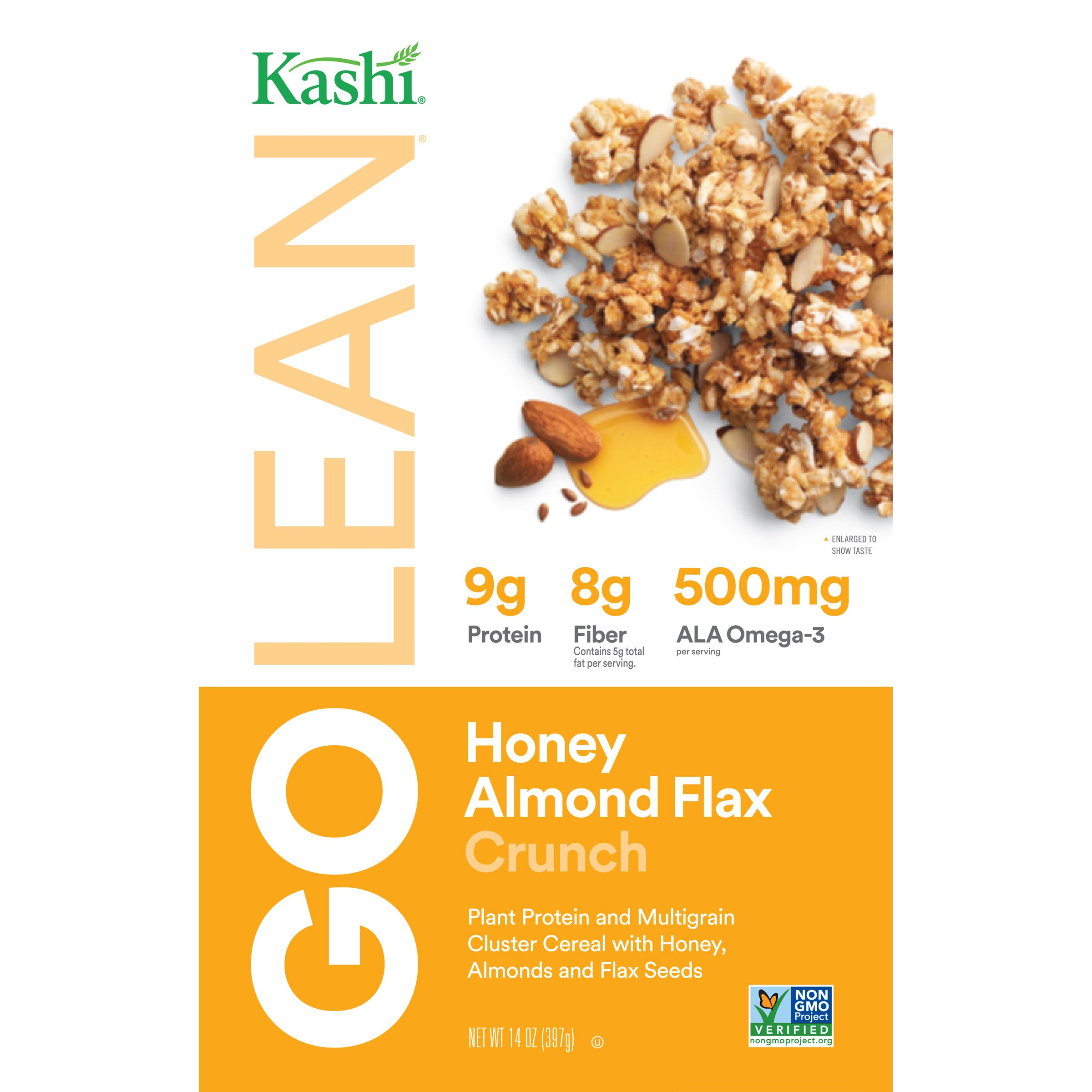 Kashi GOLEAN, Breakfast Cereal, Honey Almond Flax Crunch, Non-GMO Project Verified, 14 oz(Pack of 4) by Kashi