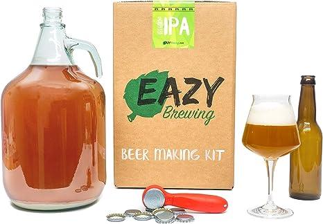 Eazy Brewing®Kit de elaboración de cerveza de 5 litros - Cerveza IPA (India Pale Ale) - Caja de regalo para preparar su propia cerveza artesanal – Instrucciones en Español: Amazon.es: Alimentación y bebidas