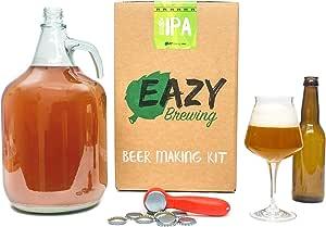 Eazy Brewing®Kit de elaboración de cerveza de 5 litros - Cerveza IPA (India Pale Ale) - Caja de regalo para preparar su propia cerveza artesanal – Instrucciones en Español: Amazon.es: Hogar