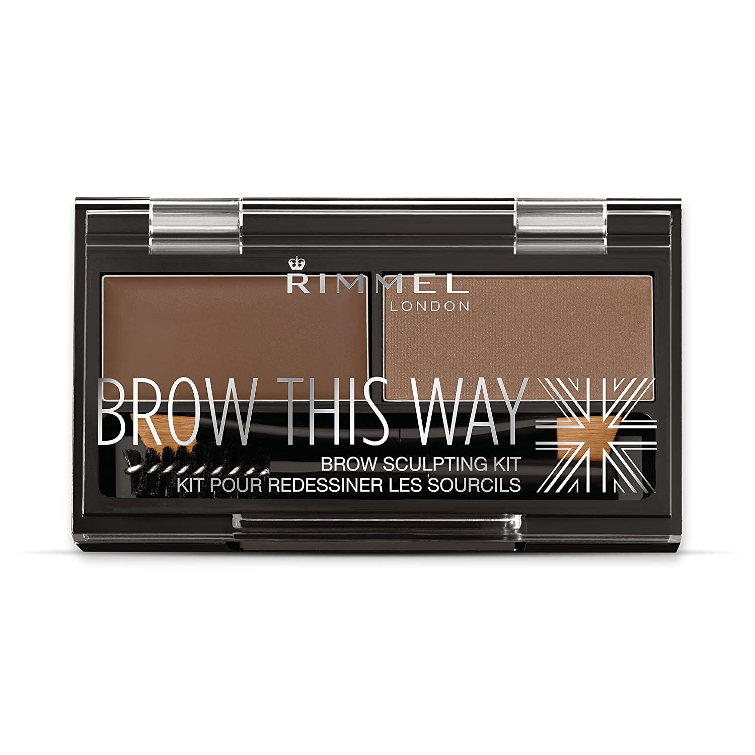 Rimmel London Brow This Way Brow Sculpting Kit, Dark Brown,wax: 1,1g, Powder 1,3g Coty Beauty 34666640003