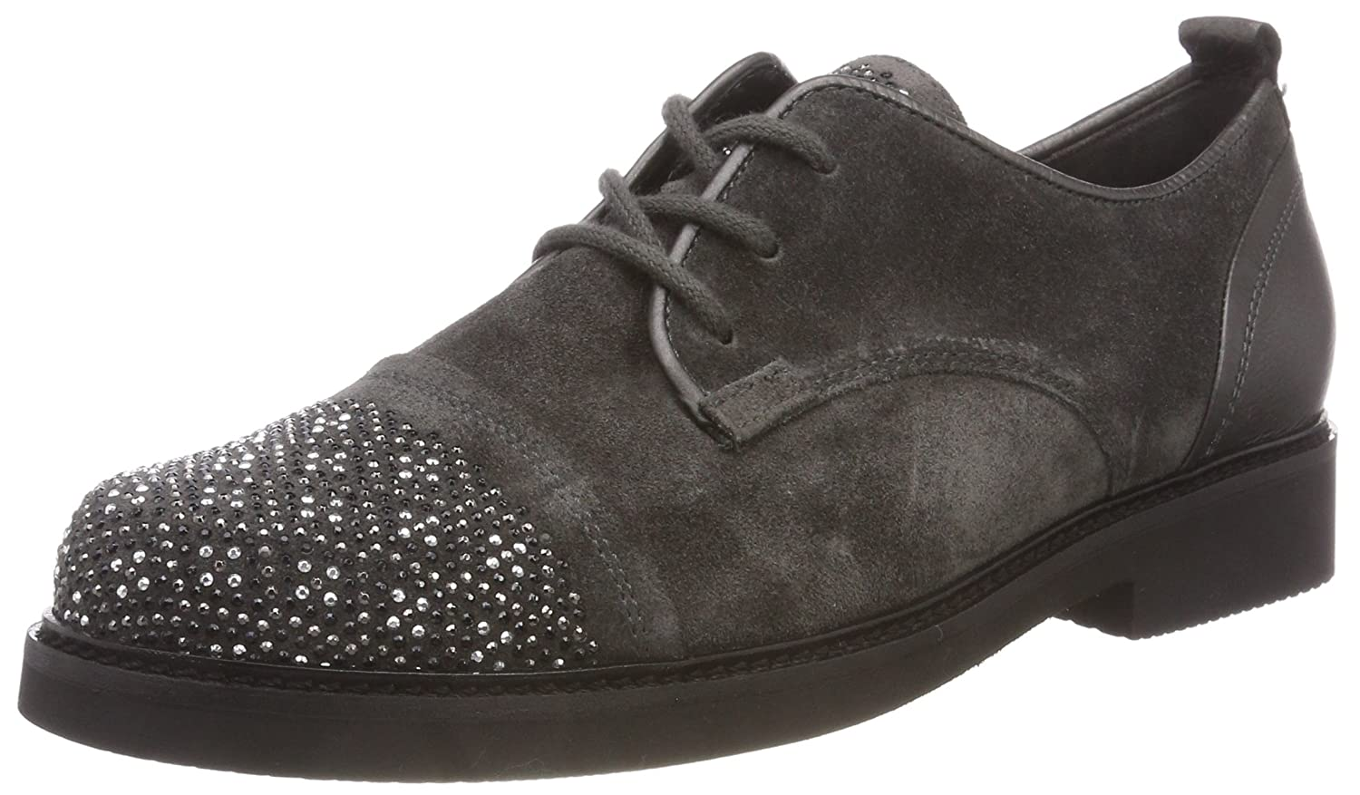 Gabor Shoes Gabor Fashion, Zapatos de Cordones Derby para Mujer 35.5 EU|Gris (Pepper 19)