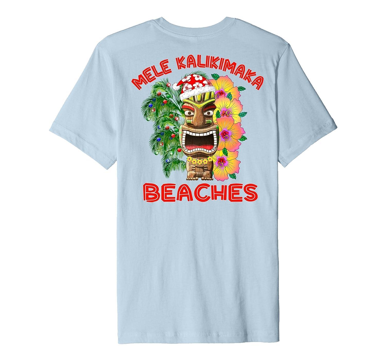 Mele Kalikimaka Beaches Merry Hawaiian Christmas T Shirt Anz Anztshirt